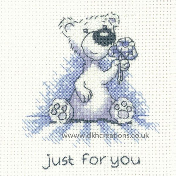 Peter Underhill Justin Just For You Greeting Card Cross Stitch Kit